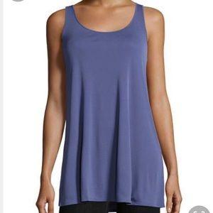 Silk Tunic Top Bue XS New NWT